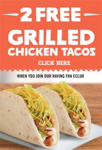 Del Taco Grilled Chicken Tacos