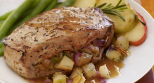 Honey Rosemary Stuffed Pork Chops
