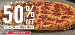 Domino's Pizza Half Off Pizza! - frugallydelish.com