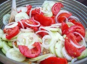 Marinated Cucumber Tomato