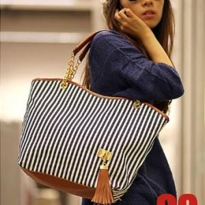 Striped Handbag