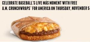 Taco Bell Free Crunch Wrap